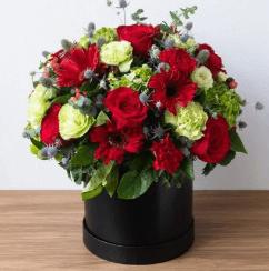 กล่องดอกไม้วาเเลนไทน์ทรงกลม