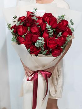 ดอกกุหลาบวาเลนไทน์สีแดง